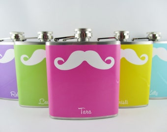 FLASK CLEARANCE SALE Mustache Flask