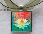 Lotus Flower Floating Pendant - APendantInTime