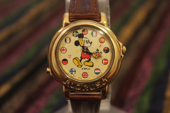Vintage Collector S Musical Mickey Mouse Lorus Watch