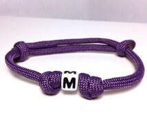 Paracord White Letter Adjustable Bracelet -  Survival Colorful kids to adults