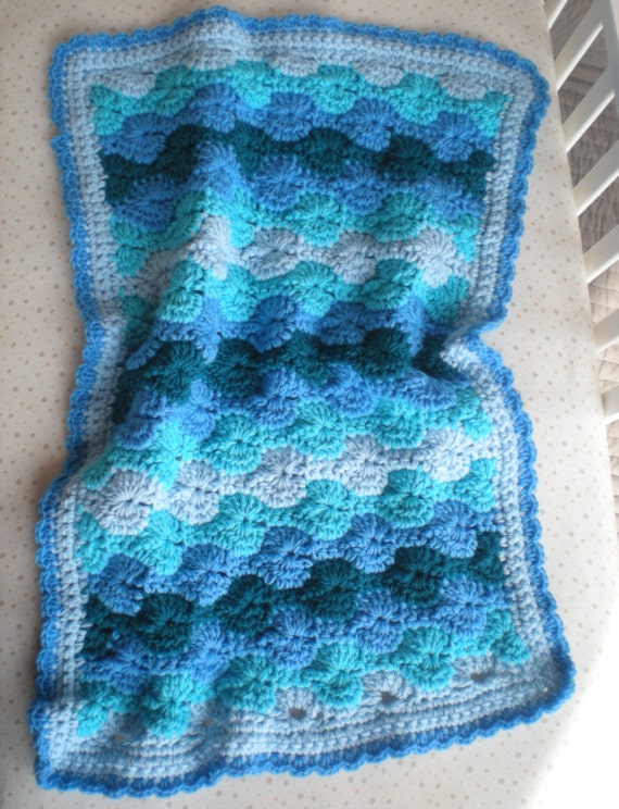 Crochet Ocean Wave : Crochet Baby Blanket - Ocean Waves - Quick & Cozy Series - PDF Pattern