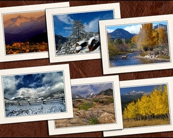 6 Nature Photo Note Cards - Nature Note Cards - 5x7 Nature Cards - Blank Note Cards - Nature Greeting Cards (GP70)