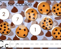C is for COOKIE Alphabet File Folder Game - Downloadable PDF Only