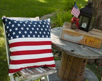 American Flag Pillow 18'' Slipcover