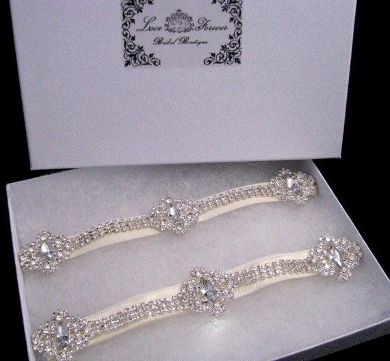 Crystal Wedding Garter: Crystal Wedding Garter Set Rhinestone Bridal Garters