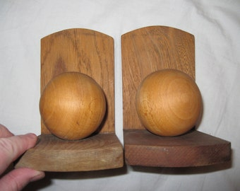 Pair of art deco wooden bookends