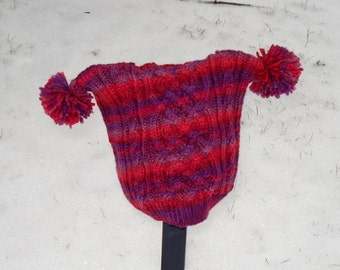 cabled child's snow hat