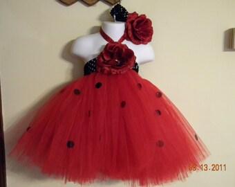 Ladybug baby girl tutu dress