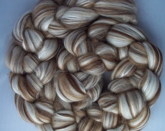 Camel, Silk, Alpaca, Merino Spinning Fiber, Top Roving, 100g / 3.5oz