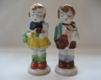 Porcelain Boy and Girl Vintage Figurines Made in Japan