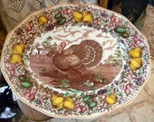 Vintage 1930's Barker Bros Turkey Platter  English  Transferware Transfer Tray was 199.00 NOW 99.00