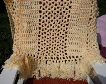 Double Thick Cream Afghan