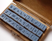Stempelset abc /30 Teile in Holzbox/Stempel Alphabet - frauzwerg