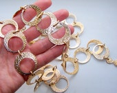 Vintage Metal Belt. 33 golden plated metal circles.