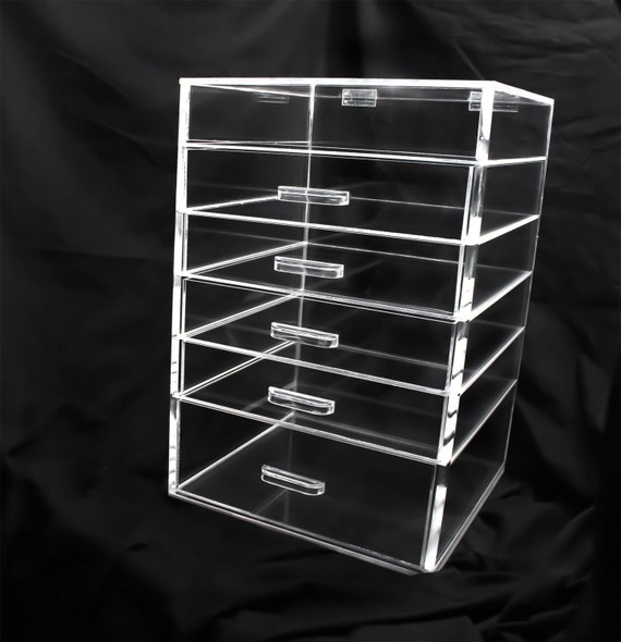Clear Acrylic Makeup Organizer 5 6 or 7 Drawer by AcrylicMakeup