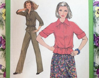 Vintage 1977 Simplicity 8372 Pants - Skirt - Top Pattern sz 12 UNCUT