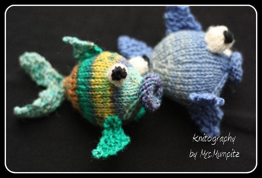 Amigurumi Knit Patterns Easy : Amigurumi fish knitting pattern easy knitting by MumpitzDesign