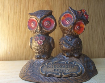 Vintage Owl Salt and Pepper Shakers Made U.S.A.