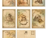 Postcards - Pack of 7 - Woodland Creatures