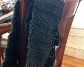 Crochet Infinity Scarf- Dark Blue