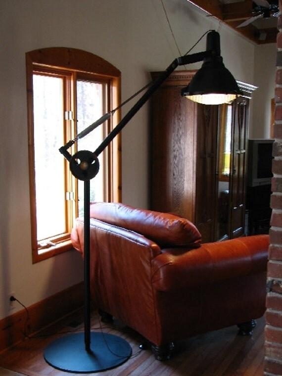 reserved for gm vintage industrial floor lamp. Black Bedroom Furniture Sets. Home Design Ideas