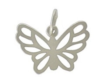 Sterling silver butterfly charm pendant for jewelry NDSS12