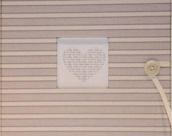 Standard Baby Book (lavendar and white stripes)