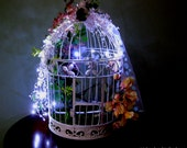 Bird Cage Wedding Card Holder With Lights