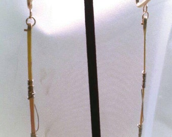 Modern and couture stick earrings, with your choice of metals
