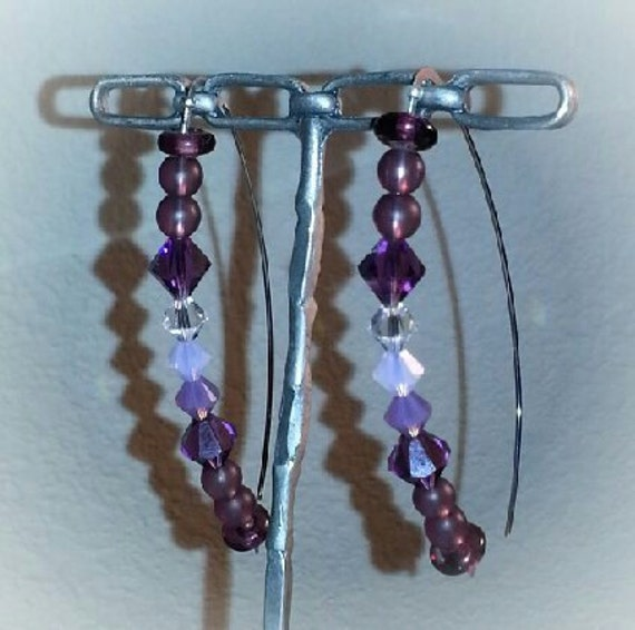 Stunning swarovski crystal drop earrings on french wire
