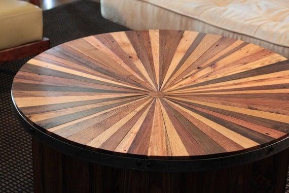 Sunburst wood