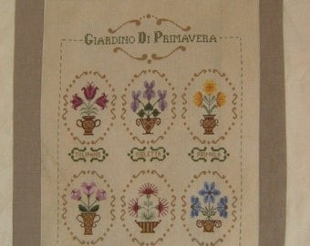 Chart GIARDINO di PRIMAVERA - Hardcopy or PDF format, also available in English and French translation
