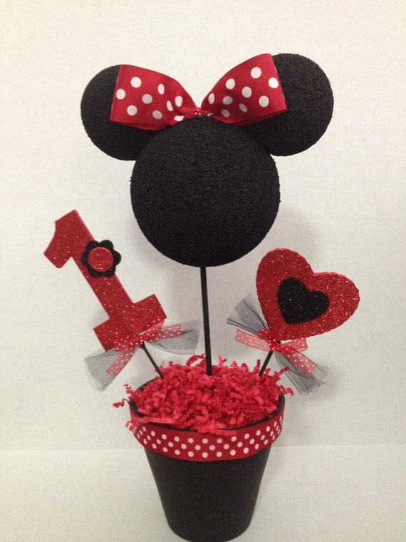 Red Minnie Mouse Centerpiece : Unavailable listing on etsy