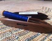 "10"" Open Bottom Boat Shuttle - Choice of Exotic Wood - Bluster Bay Handweaving Tool"