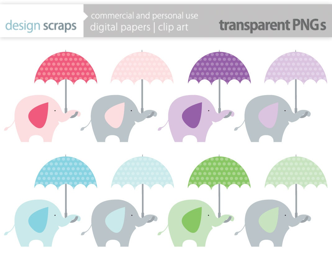 Baby Elephant Clip Art Baby Shower elephant clip art graphics