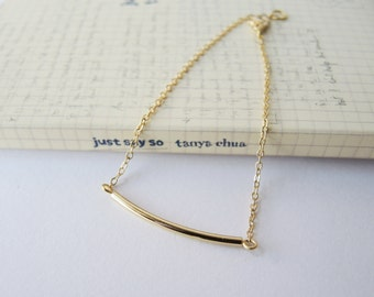 Gold bar bracelet - minimal jewelry