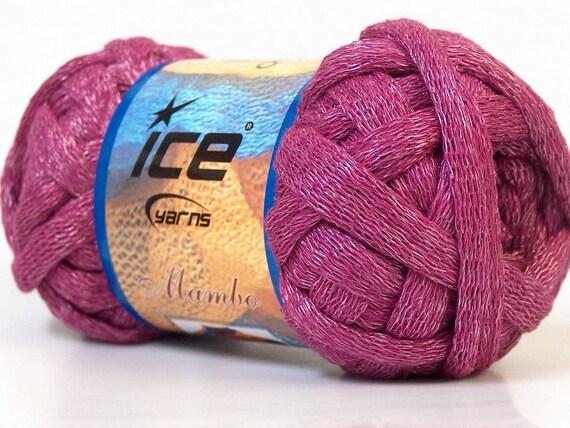 Knitting Rose Yarns : Items similar to knitting ruffle scarf yarn ice mambo