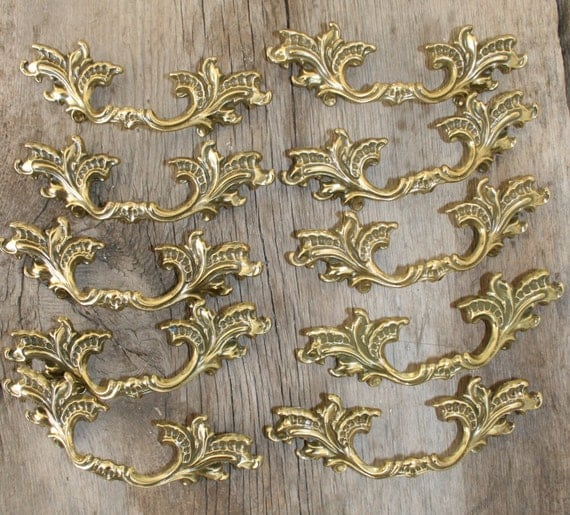 French Provincial Kitchen Door Handles: 7 French Provincial Drawer Pulls/ Furniture/ Cabinet Handles