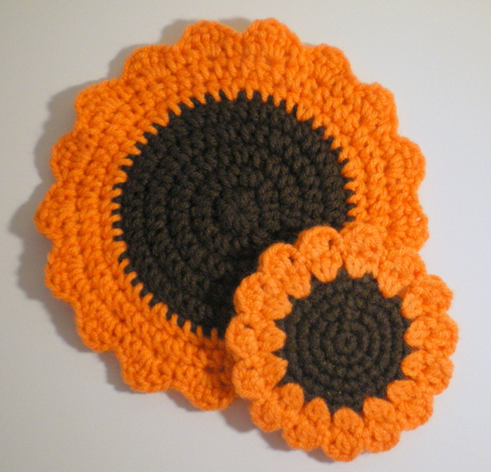 Sunflower coaster and sunflower trivet pdf crochet patterns this is a digital file bankloansurffo Gallery