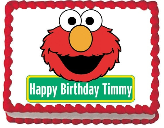 Elmo Edible Cake Images : Elmo Edible Cake Topper
