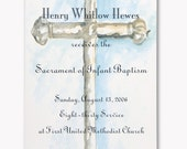 Custom Printed Blue Cross Invitation - NO MINIMUMS