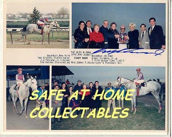 Horseracing Hall Of Fame Jockey Angel Cordero Jr. Signed Autographed Winners Circle Photo
