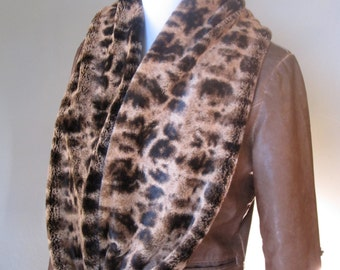 Coppery Brown Longer Length Infinity Scarf