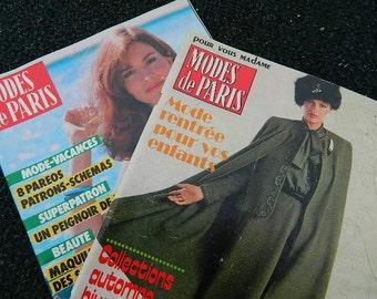 Two methods of magazines Paris