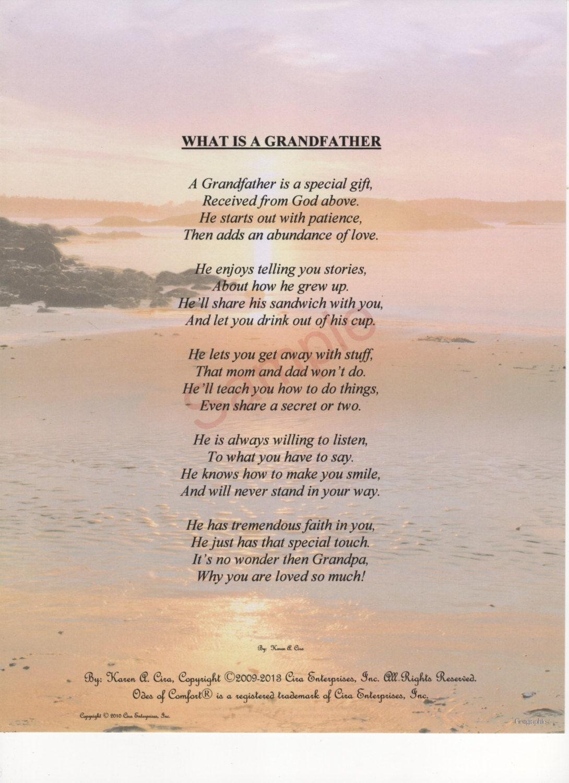 Grandfather poem | Etsy