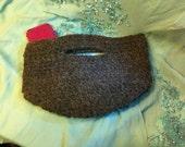Chunky crochet handbag/basket bag in slate grey