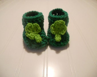 Adorable Saint Patrick's Day Baby Booties