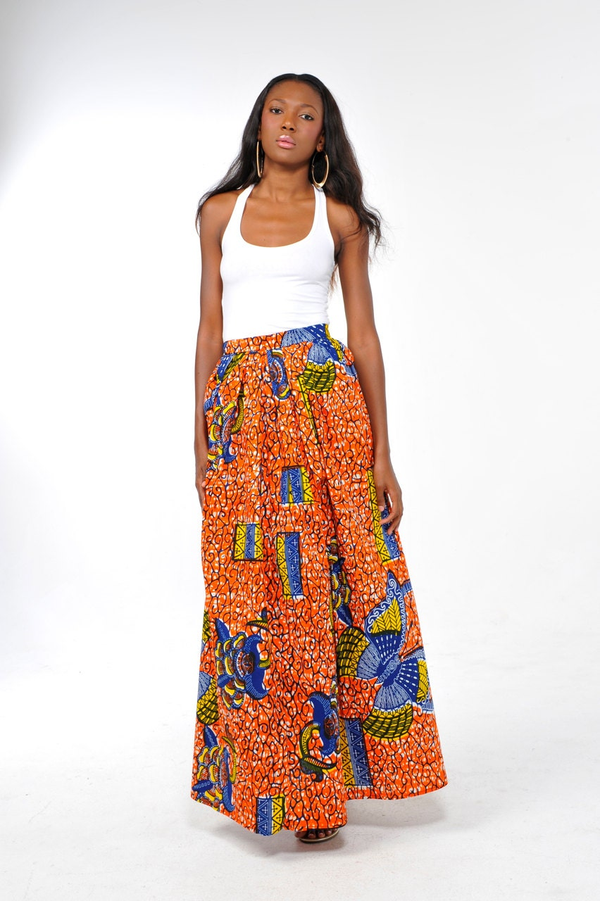 print chilolo maxi skirt by bongolicious1 on etsy