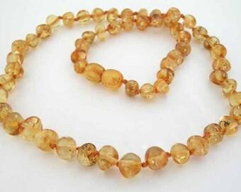 Baltic Amber Adult Necklace - Lemon Color