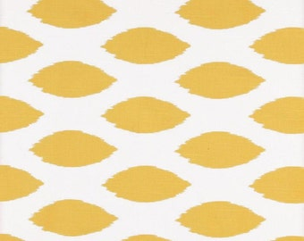 yellow ikat fabric by the yard premier prints chipper corn yellow and white cotton slub home - Home Decor Fabrics By The Yard